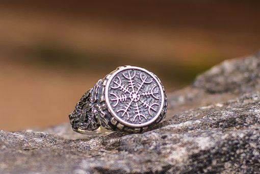 Bague Viking Aegishjalmur