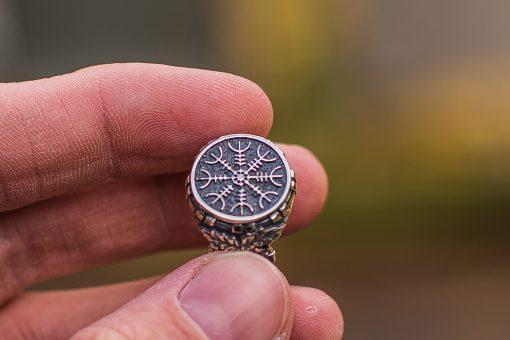 Bague Viking en Argent Aegishjalmur