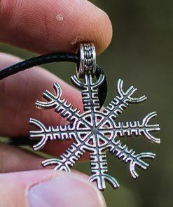 Collier Viking Aegishjalmur ou Helm of Awe en Argent