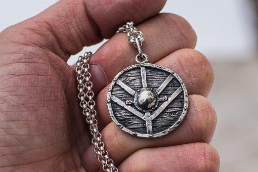 Collier Viking Bouclier Lagertha en Argent