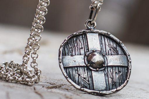 Collier Viking Bouclier Rollo en Argent