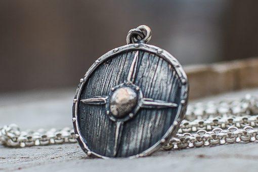 Collier Viking Bouclier des Guerriers en Argent
