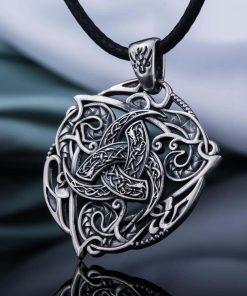 Collier Viking Cornes d'Odin en Argent