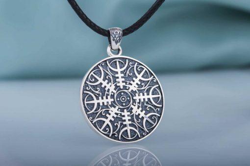 Collier Viking Heaume de Crainte en Argent