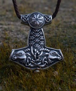 Collier Viking Marteau Mythologie Nordique en Argent