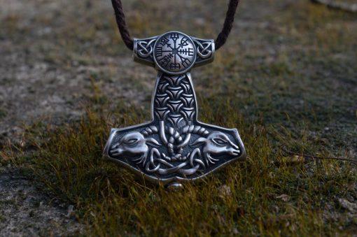 Collier Viking Marteau Mythologie Nordique en Argent