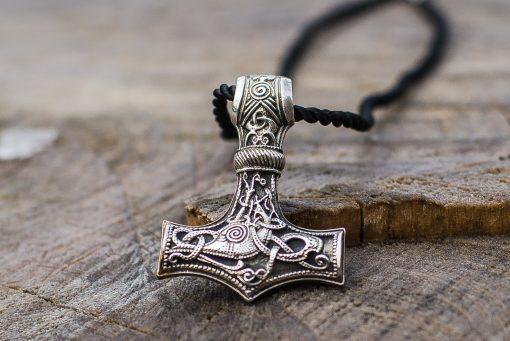 Collier Viking Marteau de Thor Pendentif en argent Mjolnir