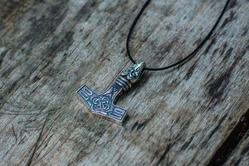 Collier Viking Marteau de Thor Raven en Argent