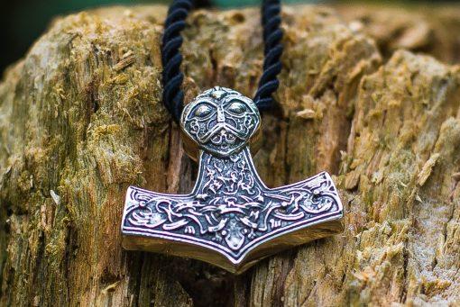 Collier Viking Marteau de Thor Symbols Nordiques en Argent