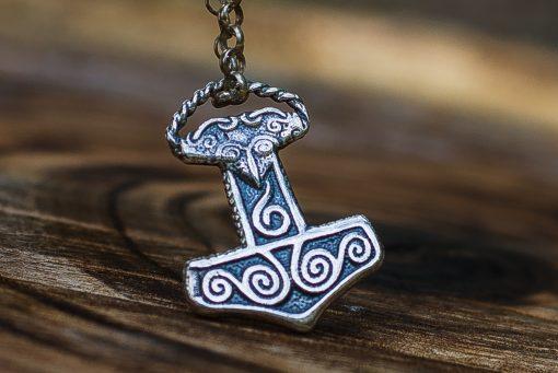 Collier Viking Petit Marteau de Thor Mjolnir en Argent