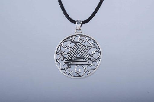 Collier Viking Valknut Symbole en Argent