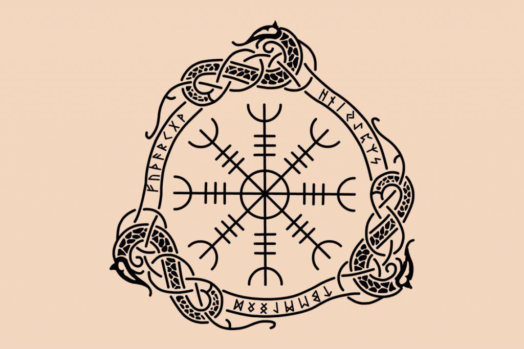 Symbole Viking : aegishjalmur