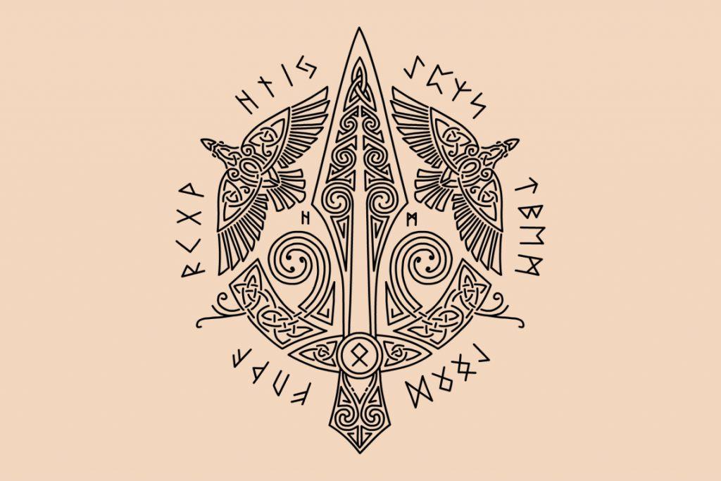 Symbole viking : gungnir