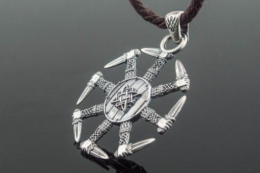 Collier Viking Kolovrat Avec Ornement en Argent