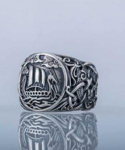 Bague drakkar viking 2